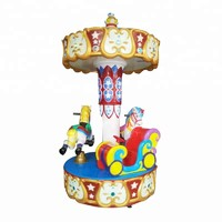 Amusement Park Kids Indoor Carousel Ride Newest Luxurious Fairground Ride Apparatus 3 Seats Mini Carousel Horse For Sale