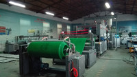 Artificial grass carpet turf mat making machine