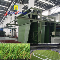 Plastic Artificial grass turf mat making machine whole line