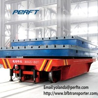 rail guided heavy duty die carbon steel transfer trolley for heavy duty steel material handling