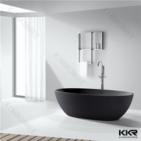 whole black solid surface bathtub