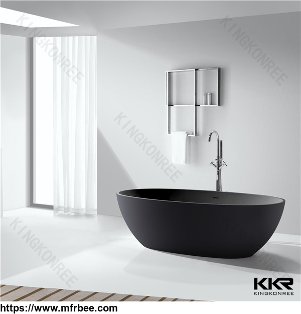 whole_black_solid_surface_bathtub
