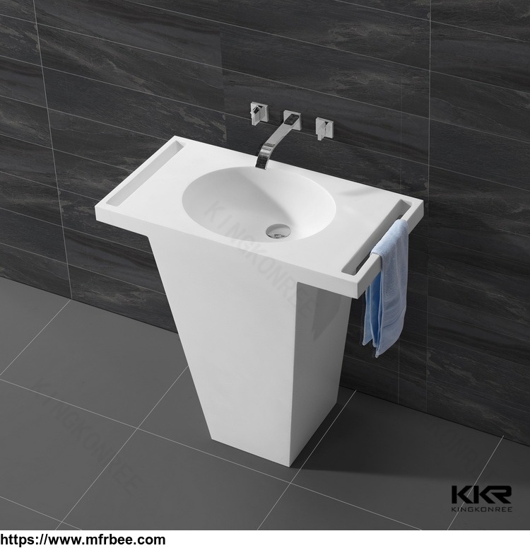 freestanding_acrylic_solid_surface_wash_basin_for_modern_family_bathroom