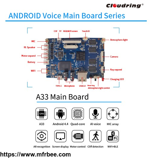 a33_android_ai_main_board_for_robot_hifi_speaker_app_control
