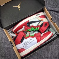 Nike AIR JORDAN 1 x OFF WHITE AJ1 Jointly OFWSports shoes for men and women
