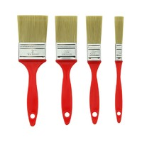 4pcs Plastic Handle Paint Brushes Set