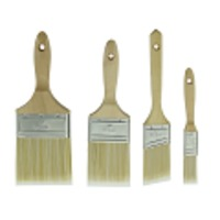 "Paint Brushes with wooden handle,Polyester/Nylon/Bristle filaments,1"",1-1/2"",2"",2-1/2"",3"",4"""