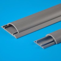 China high quality PVC plastic  Round Wiring Duct Floor Trunking