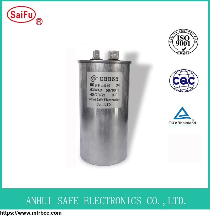 Cbb65 450VAC Motor Starting Air Conditioner Capacitor