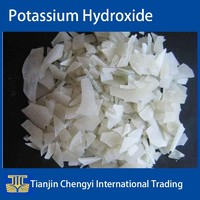 White Flakes Potassium Hydroxide 90% price used in alkaline batteries industry, soaps, high-class, detergents and cosmetics