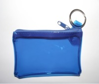 Clear Custom Print Zip Lock Plastic PVC Coin Purse Bags Zipper
