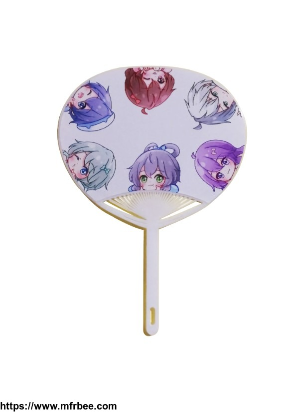 Customized Logo Printing Advertising Plastic PP Hand Fan for Promotion