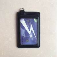 customized logo PU leather bank and ID card holder/cover