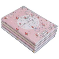 PVC customized promotional book cover liquid sequin quicksand notebook