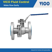 2PC Flanged Ball Valve DIN3202