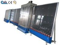 insulating glass machine glass washing and combining line with roller press machine