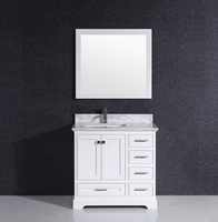 Classic waterproof bathroom solid wood cabinet furniture