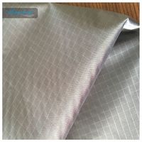 190T Ripstop Black Color Taffeta Fabrics Used For Bags With PU Coating Waterproof