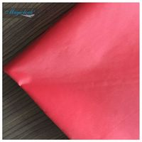 190T 100% POLYESTER  Taffeta Fabrics With PU COATING Waterproof PU Coating Red Color Umbrella Material