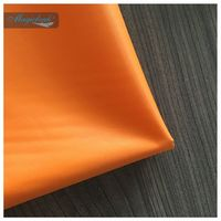 190T Orange Color PVC COATING Taffeta Fabrics With Waterproof  Used For Tents