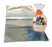 Oversized Clear Cellophane bag Transparent Opp Plastic  Basket Gift Packing bag