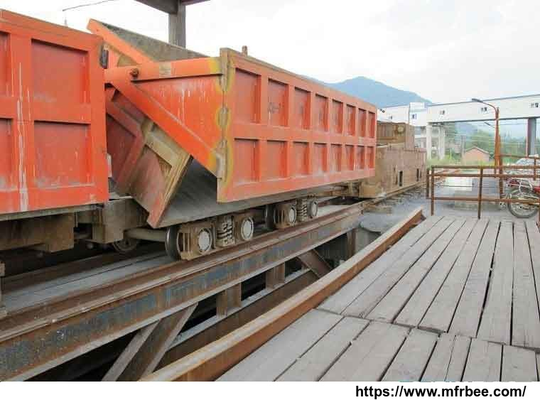 single_side_curved_rail_dumping_mine_car
