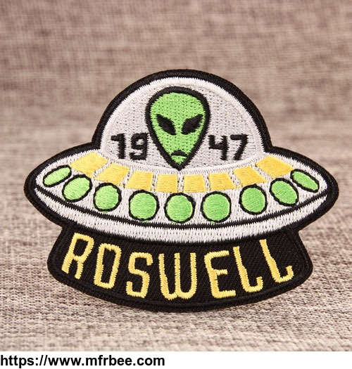 alien_in_the_ufo_custom_embroidered_patches