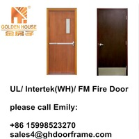 Ul listed interior fire rated wood door 90 mins