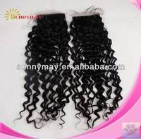 Bleached Knots Lace Top Closure Deep Curl Swiss Lace