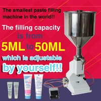 5ML-50ML with capper,pneumatic single nozzle liquid cream sauce filling machine