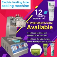 DHL shipping pneumatic steel tube sealing machine for toothpaste,cream,cosmetic