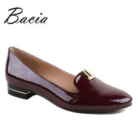 100% Real Leather Flats Women vintage Carved Casual Shoes