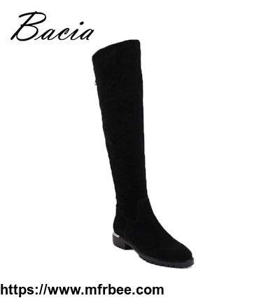 women_black_over_knee_boots_sheep_suede_leather_boots