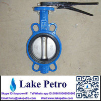 DN 100 Butterfly valve Wafer type for solid control system