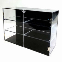 Display Shelf Acrylic Double Door Showcase Box