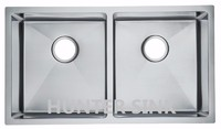 Double bowl handmade high quality sink 304 stainless steel kitchen sink