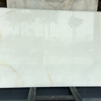 more images of Translucent Snow White Onyx Marble Slabs Countertops Table Top Tiles