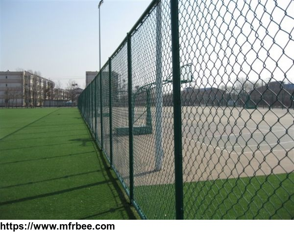 pvc_coated_green_field_galvanzied_chain_link_fence_supplier_manufacturer