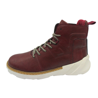 NAME: Burgundy high cut men casual shoes(CAR-71251,brand:Care)
