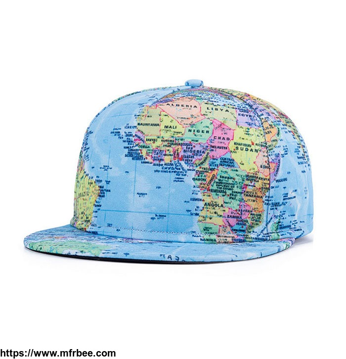 2017newest_fasion_design_hipster_hip_hop_k_pop_style_printed_map_gorras_snapback_caps_customize