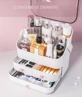 Box makeup Organizer for cosmetics Large capacity with lid Holder jewelry waterproof and dustproof YORO