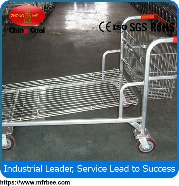 RH-LH Warehouse cargo flat metal logistic trolley