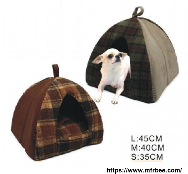 Soft Fabric Plush Fur Pet Dog House