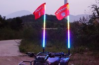 Wrapped Dream Color LED Whip Spiral ATV Light Flag Pole LED Antenna Whip