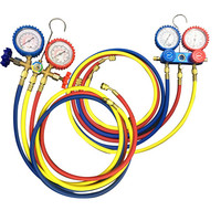 HIGH QUALITY HOT SELLING HVAC MANIFOLDS GAUGE SET INCLUDE REFRIGERATION HOSE AND GAUGE