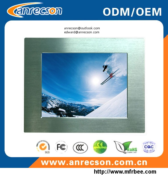 Sunlight readable 1000nits 15 inch industrial fanless touch all in one PC