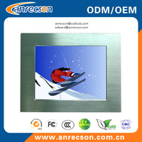 12.1 inch embedded mount touch LCD monitor with VGA DVI input