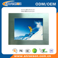 Aluminum front bezel panel mount touch screen LCD monitor 15''