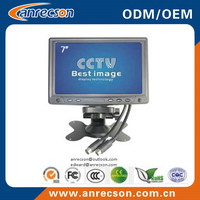 Mini plastic case 7 inch CCTV monitor