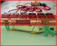 Air bearing and air casters  very safe to use